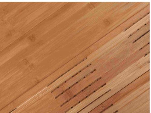 地热竹地板观察漆板表面漆膜是否圆润